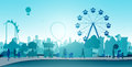 Wheel amusement parks Royalty Free Stock Photo