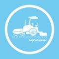 Wheel asphalt paver Royalty Free Stock Photo