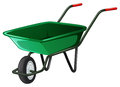 Wheel barrow close up classic green Stock Images