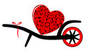 Wheel barrow and heart