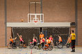 Wheel chair basketball Royalty Free Stock Photo