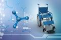 Wheel chair Royalty Free Stock Photo