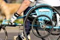 Wheel chair marathon Royalty Free Stock Photo