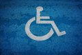 Wheel chair sign parking spot Royalty Free Stock Photo