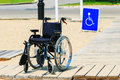 Wheel chair sign Royalty Free Stock Photo