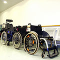 Wheel chairs Stock Photos