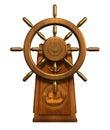 Wheel del capitano - include il percorso di residuo della potatura meccanica Fotografie Stock