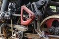 Wheel detail of a steam train locomotive Royalty Free Stock Photo