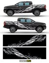 4 wheel drive truck and car graphic vector. Splash pattern abstract lines with black background design for vehicle vinyl wrap