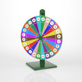 Wheel of fortune in every part life we need a litte bit luck Royalty Free Stock Photo