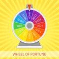 Wheel of fortune illustration.