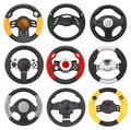 Wheel game set Royalty Free Stock Images
