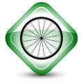 Wheel icon Stock Photos