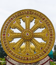 The wheel of the law life symbol in buddhism way Royalty Free Stock Images