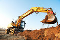 Wheel loader excavator Royalty Free Stock Images
