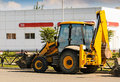 Wheel loader excavator with backhoe Royalty Free Stock Image