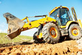 Wheel loader excavator earthmoving Royalty Free Stock Photo