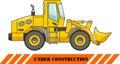 Wheel loader. Heavy construction machine. Vector