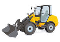 Wheel Loaders Royalty Free Stock Images