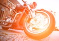 Wheel motorcycle Royalty Free Stock Photo