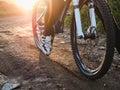 Wheel mountain bike bicycle detail Royalty Free Stock Photo