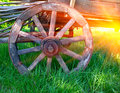 Wheel of old carriage Royalty Free Stock Photo