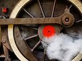 Wheel of an Old Steam Engine Royalty Free Stock Photos