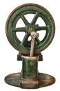 Wheel of an old steam engine