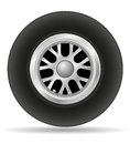 Wheel for racing car vector illustration EPS 10 Royalty Free Stock Photo