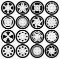 Wheel rims design set Royalty Free Stock Photo