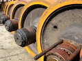 Wheel of rolling stock Royalty Free Stock Photos