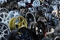 Wheel shop Stock Photo