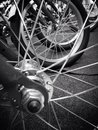 Wheel spokes Royalty Free Stock Photo
