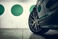 Wheel of a sports car closeup sport Stock Photo