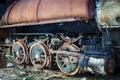 Wheel of steam locomotive Royalty Free Stock Photo