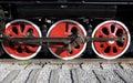 Wheel of Steam train Royalty Free Stock Photo
