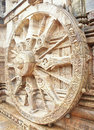 The wheel of Sun God's chariot at Konark Temple Royalty Free Stock Photo