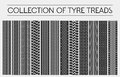 Wheel or tire, tyre treads or car tracks Royalty Free Stock Photo