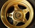Wheel of toy car scene. Royalty Free Stock Photo