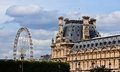 Wheel at the tuileries garden of the louvre paris france Royalty Free Stock Image