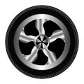 Wheel and tyre car illustration design Royalty Free Stock Image