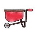 Wheelbarrow farm isolated icon