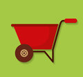 Wheelbarrow farm tool icon