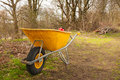 Wheelbarrow in the forest Royalty Free Stock Photos