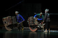 The wheelbarrow jiangxi opera a steelyard is adapted from true story last century fortys protagonists father runs an oil mill in Royalty Free Stock Photo