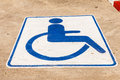 Wheelchair blue square handicap sign with Stock Photography