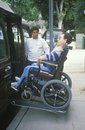 Wheelchair bound young man Stock Photo