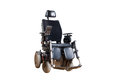 Wheelchair for disposable people motorised Stock Images