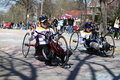 Wheelchair and Handcycle Racers participated in th Stock Image