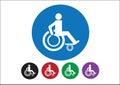 Wheelchair Handicap Icon design Royalty Free Stock Photo